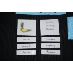 Cartes de nomenclatures trilingues